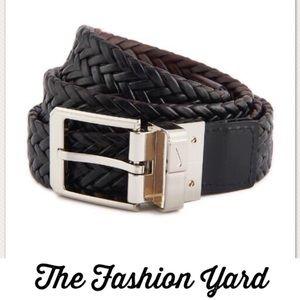 Nike Men's Braided Belt - Black/Brown - Size 40